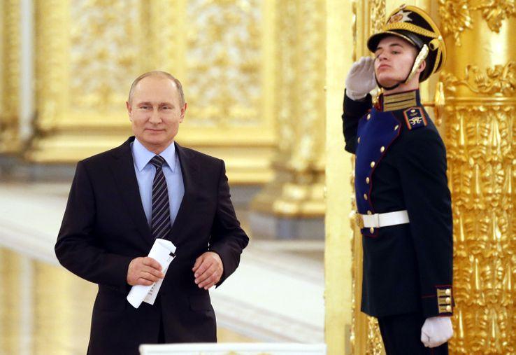 Poutine et les dorures du Kremlin